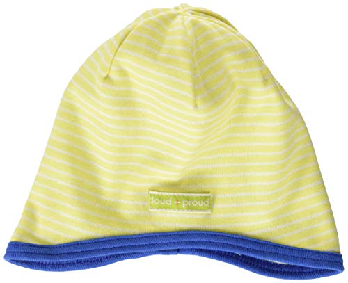 Loud + Proud Reversible Cap Organic Cotton Bonnet, Jaune (Lemon Lea), 50/56 Bébé garçon
