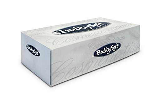 Bulky Soft BS-68350 cosmeticadozen, 2-laags, hoogwit (150-pack)