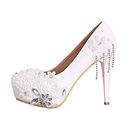 White high heels for wedding