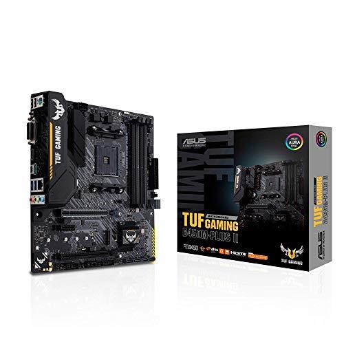 Asus TUF Gaming B450M-Plus II Mainboard Sockel AM4 (mATX, AMD Ryzen, DDR4-Speicher, M.2, USB 3.1 Gen1+ Gen2, Aura Sync, Ai Noise Cancelling Mikrofon)