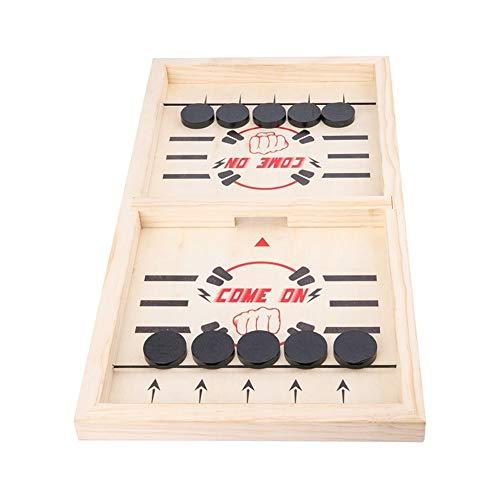 Dunflop Schleuder Tabelle Hockey-Party-Spiel, Gewinner Brettspiele Spielzeug for Eltern Kind, Holz Desktop-Hockey-Tabellen-Spiel for Kinder Und Erwachsene