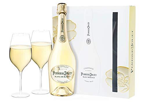 Champagne Brut AOC Blanc de Blancs con 2 flûte Perrier Jouët 0,75 L, Astucciato