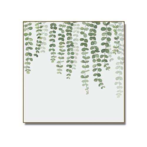 Groene plant linnen olieverfschilderij badkamer decoratie toebehoren wandschilderij Kein Rahmen 50x70cm