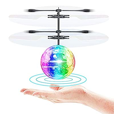 HanDingSM RC Flying Ball, Hand Suspension Helicopter Ball With Shinning LED Lights,Infrared Sensing Induction Flying Toys For Boys Girls Kids Teenagers Adults