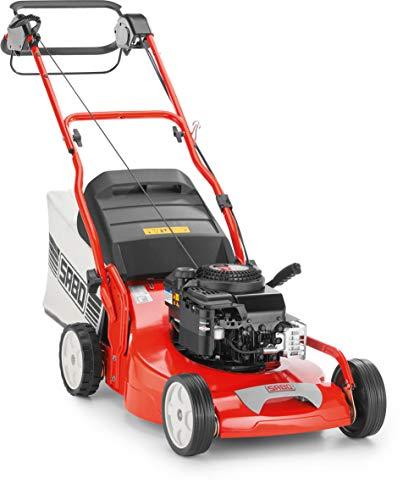 SABO Benzin-Rasenmäher 54-A Economy, Schnittbreite 54 cm, zentrale Schnitthöhenverstellung 25-100 mm, Hinterradantrieb, Rasenflächen bis 2.500 m²/h, 75 L Grasfangkorb, Robustes Alu-Chassis