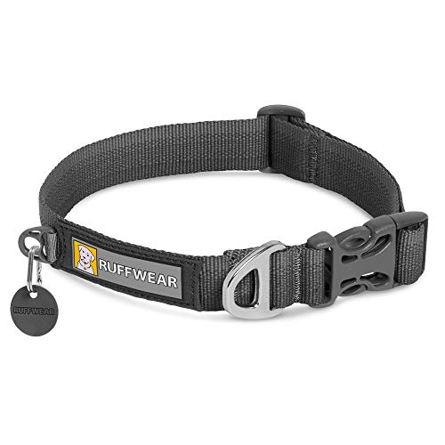 """RUFFWEAR, Front Range Dog Collar, Durable and Comfortable Collar for Everyday Use, Twilight Gray, 14""""-20"""""""