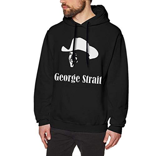 AOOEDM George Strait Sudaderas con Capucha para Hombre Suéter Moda de Manga Larga Top Sin Bolsillo Sudaderas con Capucha