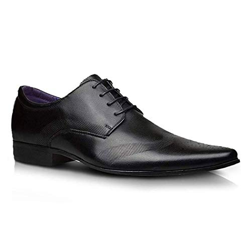 Robelli Men's Fashion Faux Leather Formal Shoes, 10 UK - Bl