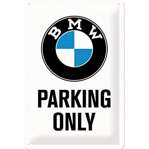 Price comparison product image BMW Parking Only Metal Plate 30 x 20 cm