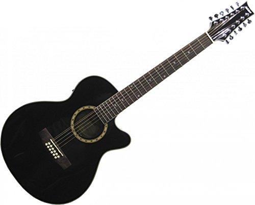 Ashton SL29/12CEQBK 12 String Westerngitarre