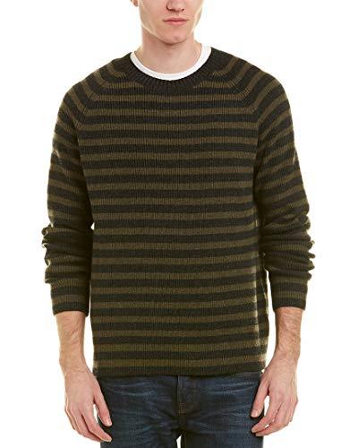 Vince Mens Crewneck Wool & Cashmere-Blend Sweater Large Grey