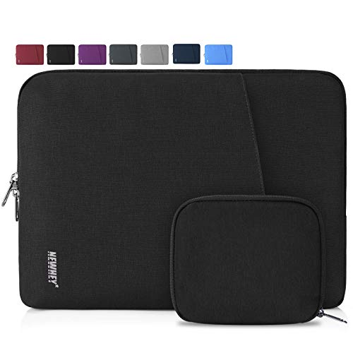 NEWHEY Custodia per Macbook Air 13 Pollici Impermeabile Custodia PC 13-14 Pollici Antiurto Custodia Borsa Porta Computer Laptop con Piccolo Caso Nero