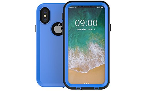 Redpepper-Waterproof Case Cover for iPhone X (2017) Snowproof Shockproof DirtProof Protection Cover Case (Blue)