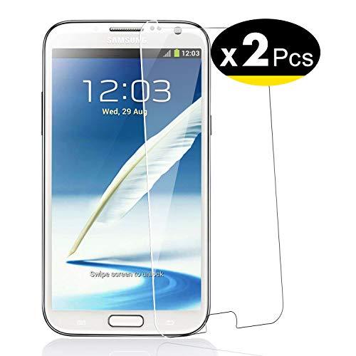 NEW'C Lot de 2, Verre Trempé pour Samsung Galaxy Note 2, Film Protection écran - Anti Rayures - sans Bulles d'air -Ultra Résistant (0,33mm HD Ultra Transparent) Dureté 9H Glass