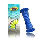 Yisscen Rodillo de masaje de pies, herramienta de recuperación para fascitis plantar, rodillo de ejercicio para muñecas y antebrazos, reducción del estrés y relajación (azul)