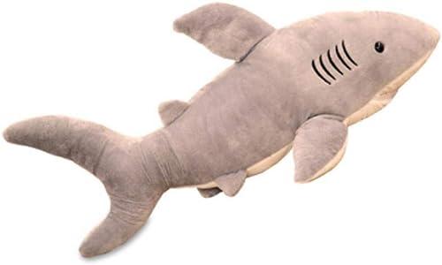 MISJIA Größe Hai-Plüschtiere Lappen Puppe Tierpiloten schlafende Kinder Geschenke Simulation Puppe,100cm