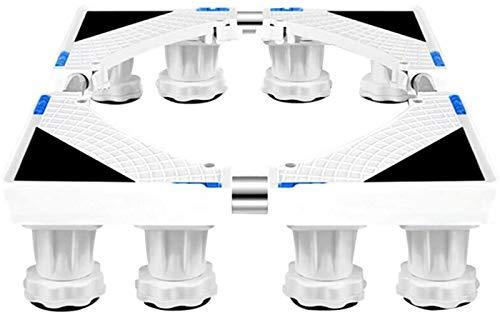 SHKUU Soporte Base para Lavadora, Soporte Base móvil Multifuncional Electrodomésticos frigorífico Carro Rodillos Ajustable Base Especial móvil para Lavadora