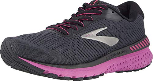 Brooks Women's Adrenaline GTS 20, Ebony/Fuchsia, 9.5 B US
