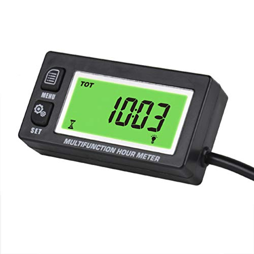 Medidor de horas multifunción retroiluminado - Tacómetro voltímetro con reloj 2 y 4 tiempos medidor de hora inductiva para motor pequeño barco fuera board Mercury Motocross motocicleta