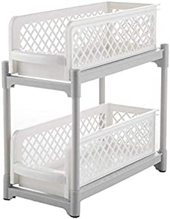 Organisateur sous évier de cuisine, étagère amovible sous l'évier, parfait pour améliorer l'espace de la cuisine et de la ...