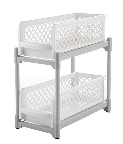 Organizador para debajo del fregadero, estante extraíble debajo del fregadero, perfecto para mejorar el espacio de la cocina y el baño.
