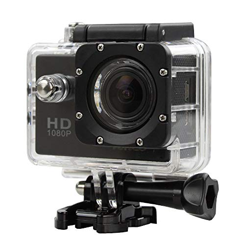 Ossian Professional Action Cam – Waterproof 1080P Full HD Rechargeable...