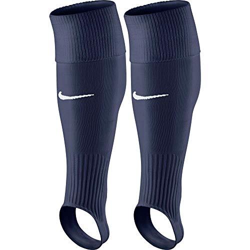 Nike Perf Stirrup-Team, Calzettoni da Calcio Senza La Parte del Piede Uomo, Blu (Midnight Navy/Bianco) (Bianco), L