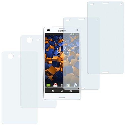 mumbi Schutzfolie kompatibel mit Sony Xperia Z3 Compact Folie klar, Displayschutzfolie (4X)