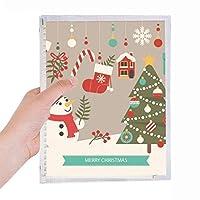 クリスマスツリーの手袋雪だるま祭り 硬質プラスチックルーズリーフノートノート
