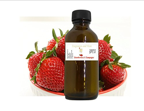 STRAWBERRIES & CHAMPAGNE FRAGRANCE OIL |Soap Making| Candle Making| for Use with Diffusers| Add to Bath & Body Products| Home and Office Scents| 2 oz Amber Glass Bottle