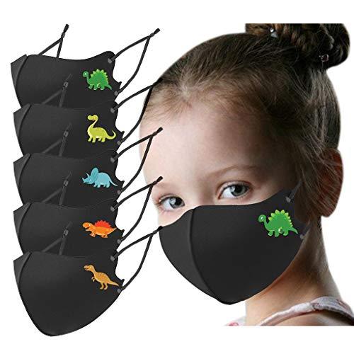 Kinder Regenbogendruck Druck Mundschutz 5 Stuck Atmungsaktiv Baumwolle Waschbar Warm Halten Schlauchschal