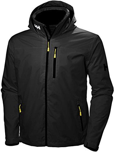 Helly Hansen Crew Hooded Jacket Chaqueta para Hombre, Negro, L