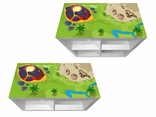Stikkipix Dinosaurier Möbelfolie   KSWK07   passend für das Regal KALLAX von IKEA - (Möbel Nicht inklusive)