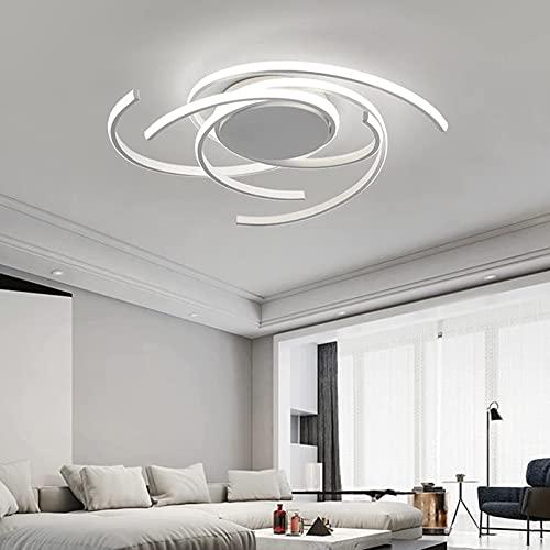 LHLJ Lámpara de araña LED Regulable de 72 vatios con Control Remoto, diseño acrílico Creativo Iluminación de lámpara de Techo LED Moderna para Sala de Estar, Dormitorio, Color Blanco