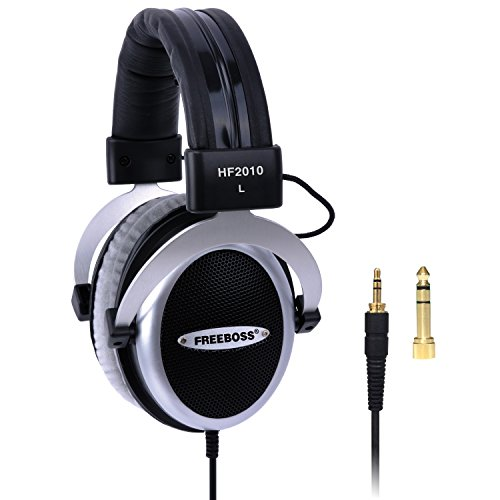Freeboss HF2010 Hi-Fi Semi-Open 53mm Drivers 3m Oxygen Free Copper Cord 3.5mm Plug 6.35mm Adapter Over-Ear Headphones