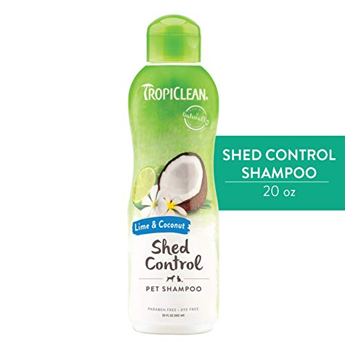 TropiClean Lime & Coconut Shed Control Shampoo for Pets, 20oz - Made in USA
