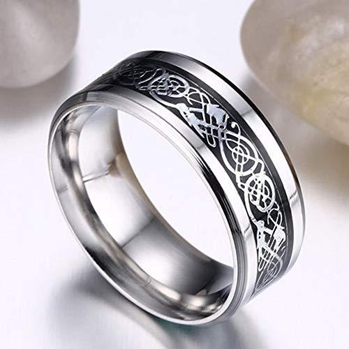 Titanium Stalen Ring Persoonlijkheid Wilde Ring Heren Brede Versie Van De Mode-Ring Geschikt Voor Geschenken Voor Vriendje Zilver,US code 7#