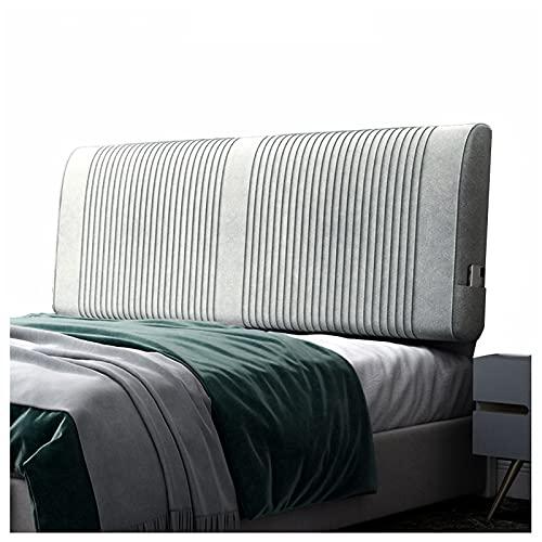 LIANGJUN Rückenlehne Für Bett Kissen Rückenkissen, Doppeltes Großes Kissen Für Hotelzimmer Doppelbett, Einfach Zu Säubern Für Betten Ohne Kopfteil (Color : Light Gray, Size : 120x58x11cm)