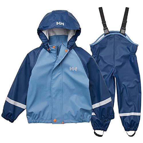 Helly Hansen Kinder K Bergen PU Wasserdicht Jacke Und Hose Set, North Sea Blue, 7 Yrs