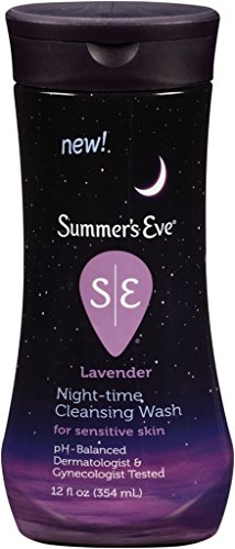 Summer's Eve Night-Time Cleansing Wash for Sensitive Skin - Cleanses, Soothes, and Relaxes Your Most Sensitive Areas - Lavender Scent - 12 Ounce