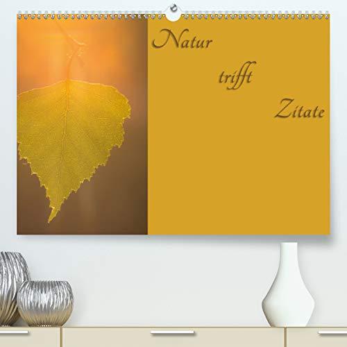 Natur trifft Zitate (Premium, hochwertiger DIN A2 Wandkalender 2020, Kunstdruck in Hochglanz): Naturbilder geschmückt mit Zitaten (Monatskalender, 14 Seiten ) (CALVENDO Natur)