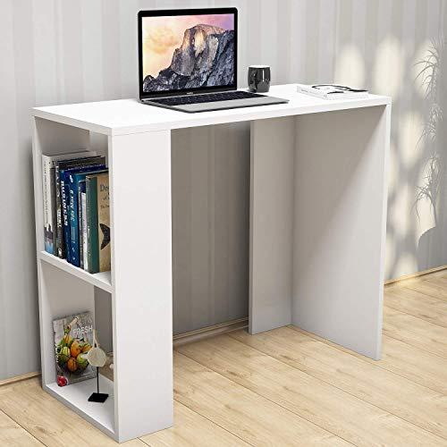 Homemania Scrivania Nano, PVC, Bianco, 90x40x75 cm