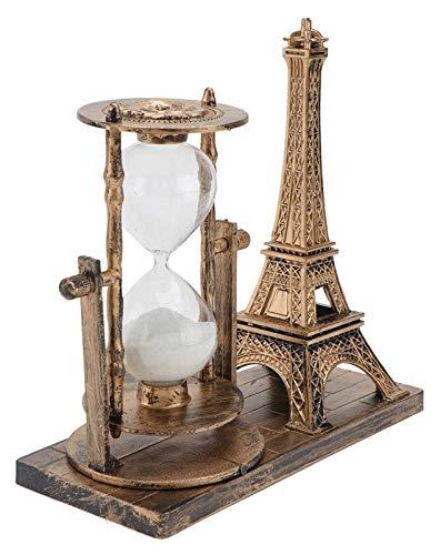 WQQLQX Statue Eiffelturm Sanduhr Statue Skulptur Sanduhr Timer Ornamente Kunst Geschenke Home Schreibtisch Dekoration Zubehör Geburtstagsgeschenke Handwerk Figuren Skulpturen