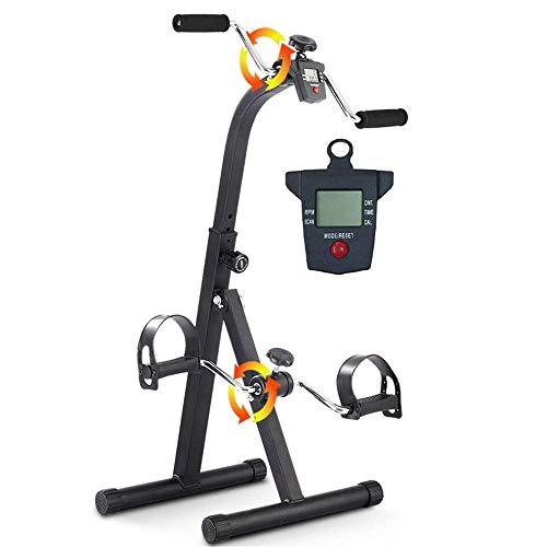 XBSLJ Pedal Exercisers Pedal Exerciser Medical Peddler for Hand, Arm, Leg & Knee Recovery Exercise with LCD Monitor-Adjustable Fitness Rehab Equipment for Seniors, Elderly