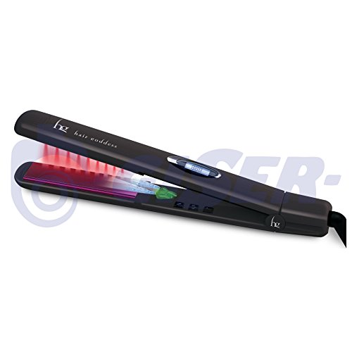 Plancha de pelo IR SPECTRUM Infrarrojos Profesional - Placas Cerámica Turmalina - Disparador iónico - Display LCD temperatura 90 a 230 ºC