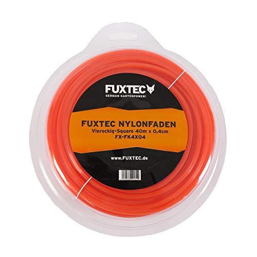 FUXTEC Nylonfaden Viereckig Square 40m x 0,4 cm Vierkant Mähfaden passend für Motorsense-Wildkrautbürstenaufsatz