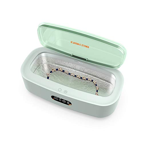 Venussar Ultrasonic Cleaner, Sonic Jewelry Cleaning Machine 300ML, 45kHz Professional Ultrasonic Jewelry Cleaner Machine for Glasses, Jewelry, Watches, Dentures, 4 Gear Adjustable