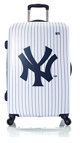 Heys America New York Yankees Officially Licensed Unisex 21' Expandable Carry-On Spinner Luggage