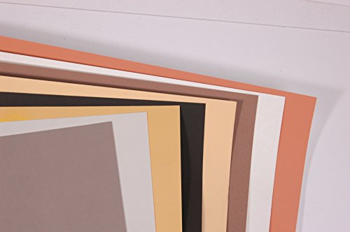 Clairefontaine 30 x 40 cm PastelMat Pastel Card Pad No5, 360 g, 12 Sheets, Assorted Colours