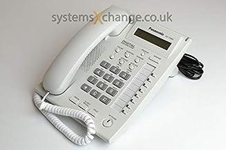 Panasonic kx-t7668hanadset en color blanco Tornado teléfonos
